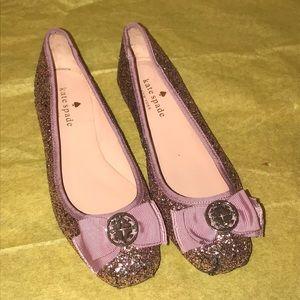 Kate Spade glitter ballet flat 6 1/2